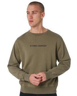 ARMY GREEN MENS CLOTHING THRILLS JUMPERS - TH8-203FAGRN