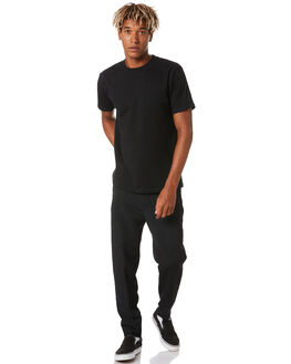 BLACK MENS CLOTHING THE PEOPLE VS PANTS - AW20086BLK