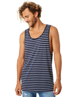 NAVY MENS CLOTHING SILENT THEORY SINGLETS - 40X0016NAVY