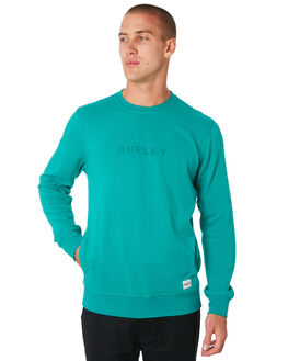 NEPTUNE GREEN MENS CLOTHING HURLEY JUMPERS - AJ2214321