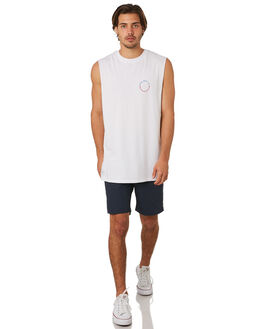 WHITE MENS CLOTHING RPM SINGLETS - 8SMT11BWHT