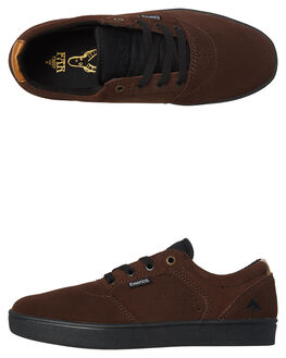 BROWN BLACK MENS FOOTWEAR EMERICA SKATE SHOES - 6102000123-201