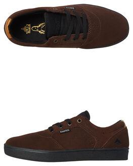 BROWN BLACK MENS FOOTWEAR EMERICA SNEAKERS - 6102000123-201