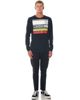 BLACK MENS CLOTHING DC SHOES TEES - UDYZT03472KVJ0