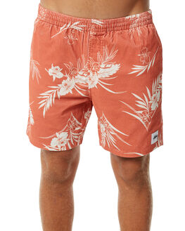 RED MENS CLOTHING STUSSY SHORTS - ST073602RED