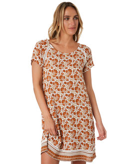 ORANGE WOMENS CLOTHING RIP CURL DRESSES - GDRIA10030