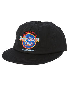 BLACK MENS ACCESSORIES BILLY BONES CLUB HEADWEAR - BBCHAT022BLK