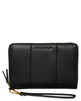 BLACK WOMENS ACCESSORIES RUSTY PURSES + WALLETS - WAL0770BLK