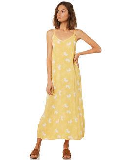 CORNSILK FLORAL WOMENS CLOTHING SAINT HELENA DRESSES - SHS1831CORN