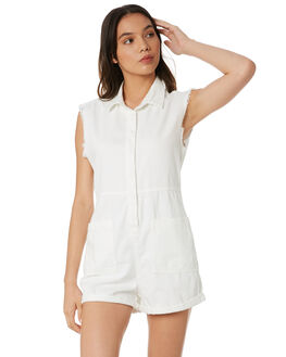 WHITE WOMENS CLOTHING INSIGHT PLAYSUITS + OVERALLS - 1000085671WHT