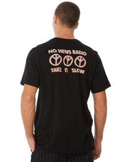 BLACK MENS CLOTHING NO NEWS TEES - N5183002BLACK