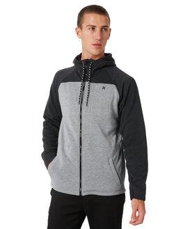 DARK GREY HEATHER MENS CLOTHING HURLEY JUMPERS - MFT000750006G