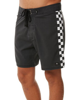 BLACK MENS CLOTHING THRILLS BOARDSHORTS - TR7-304BBLK