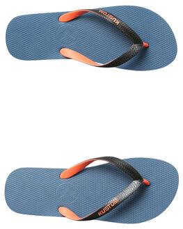 WASH BLUE MENS FOOTWEAR KUSTOM THONGS - 4946212UWSHBL