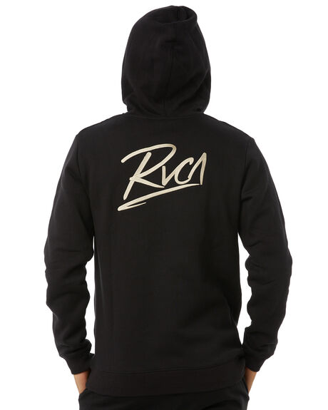 BLACK MENS CLOTHING RVCA JUMPERS - R183162BLK