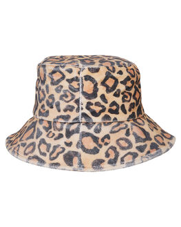 BROWN TAN WOMENS ACCESSORIES LACK OF COLOR HEADWEAR - LEOBUCK1BRN