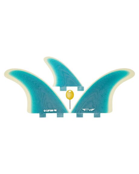 TURQUOISE BOARDSPORTS SURF CAPTAIN FIN CO. FINS - CFF3411703-TURTURQ