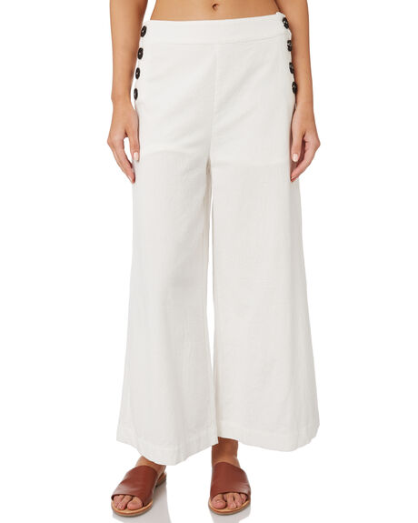BRIGHT WHITE WOMENS CLOTHING RUSTY PANTS - PAL1148WHT