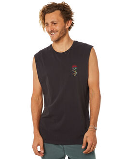 BLACK MENS CLOTHING BILLABONG SINGLETS - 9582505BLK