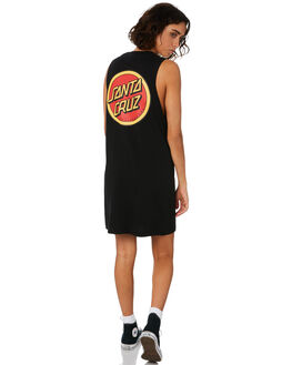BLACK WOMENS CLOTHING SANTA CRUZ DRESSES - SC-WDD9964BLACK