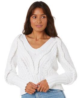 WHITE WOMENS CLOTHING MLM LABEL KNITS + CARDIGANS - MLM757AWHT