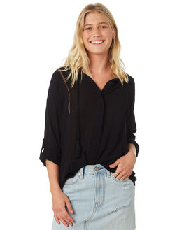 BLACK WOMENS CLOTHING RIP CURL FASHION TOPS - GSHEU10090