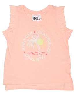 NEON CORAL KIDS GIRLS EVES SISTER TOPS - 8021044PEAC