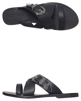 BLACK WOMENS FOOTWEAR SOL SANA FASHION SANDALS - SS181W418BLK