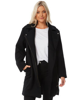 BLACK WOMENS CLOTHING RUSTY JACKETS - JKL0366BLK