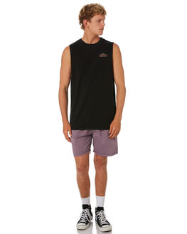 BLACK MENS CLOTHING SWELL SINGLETS - S5201272BLACK