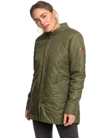 IVY GREEN WOMENS CLOTHING ROXY JACKETS - ERJJK03283-CRB0
