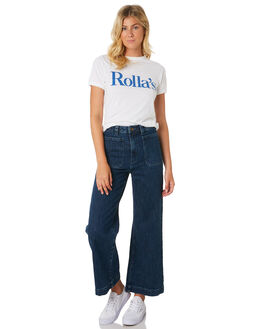 WHITE WOMENS CLOTHING ROLLAS TEES - 13024-001