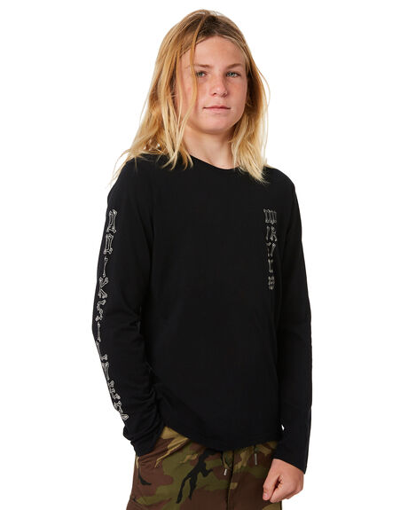 BLACK KIDS BOYS QUIKSILVER TOPS - EQBZT03818KVJ0