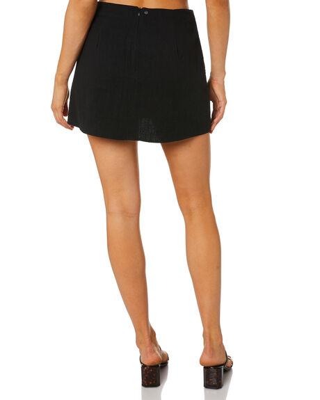 BLACK WOMENS CLOTHING RUSTY SKIRTS - SKL0503BLK
