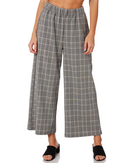 BLACK WHITE CHECK WOMENS CLOTHING DR DENIM PANTS - 1630101-801