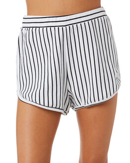 BLACK STRIPE WOMENS CLOTHING STUSSY SHORTS - ST182600BLKST
