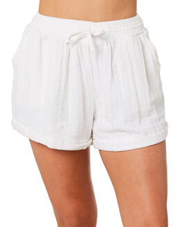 WHITE WOMENS CLOTHING RHYTHM SHORTS - OCT19W-WS04-WHT