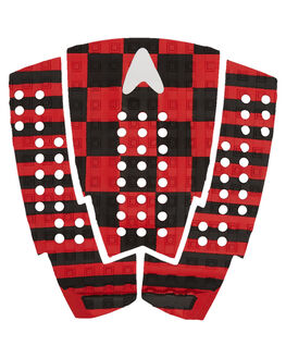 BLACK RED SURF HARDWARE ASTRODECK TAILPADS - CF007-MGBLRD