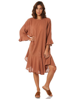 RUST WOMENS CLOTHING ZULU AND ZEPHYR DRESSES - ZZ2281RUST