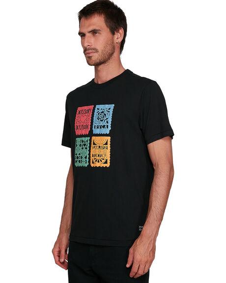 BLACK MENS CLOTHING RVCA TEES - RV-R108045-BLK