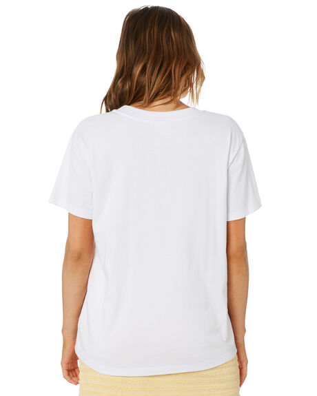 WHITE WOMENS CLOTHING ZULU AND ZEPHYR TEES - ZZ3361WHT
