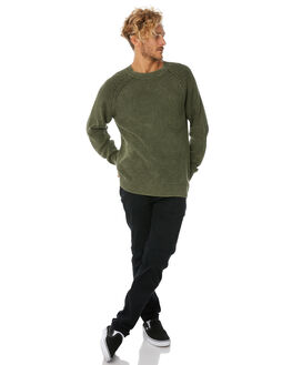 ARMY GREEN MENS CLOTHING THRILLS KNITS + CARDIGANS - TW8-210FAGRN