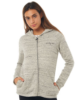 GREY HEATHER WOMENS CLOTHING HURLEY JUMPERS - AGFLSCRW05A