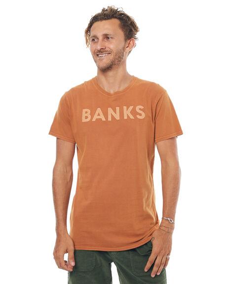 BURNT KHAKI MENS CLOTHING BANKS TEES - WTS0200BKK