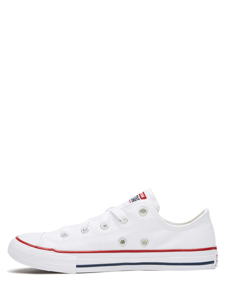 OPTICAL WHITE KIDS BOYS CONVERSE SNEAKERS - 3J256WHT