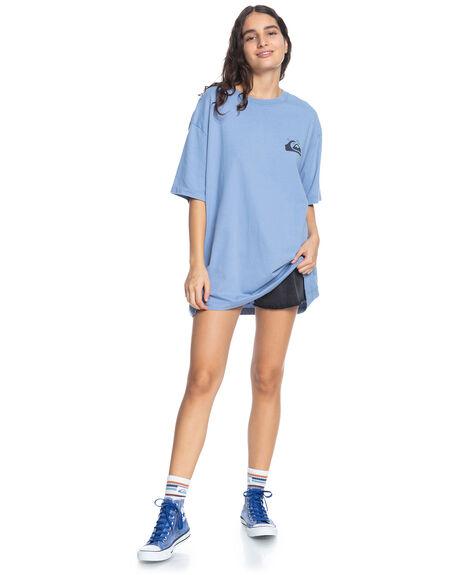 STONE WASH WOMENS CLOTHING QUIKSILVER TEES - EQWZT03041-BKJ0