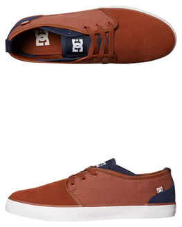 NAVY WHITE MENS FOOTWEAR DC SHOES SNEAKERS - ADYS300406NVW