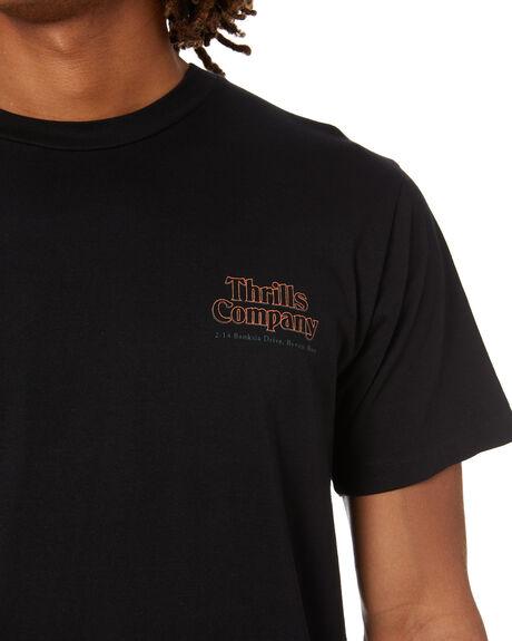 BLACK MENS CLOTHING THRILLS TEES - TW21-126BBLK