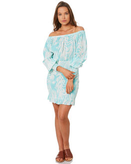 TURQUOISE WOMENS CLOTHING TIGERLILY DRESSES - T392444TURQ