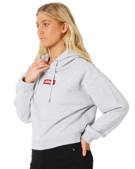 GREY MARLE WOMENS CLOTHING STUSSY JUMPERS - ST186308GREYM